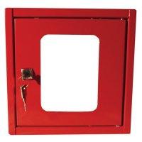 Rood kastje voor ventiel, schakelaar of noodstop
