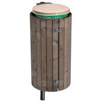 Houten of stalen ombouw voor vuilniszakhouder