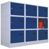 Vierkante lockers van staalplaat
