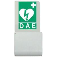 Houder voor HS1-defibrillator conform openbare ruimten