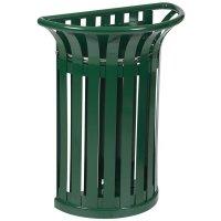 Groene, stalen vuilnisbak voor buiten