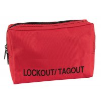 Rode opbergtas voor lockout / tagout
