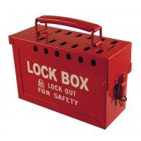 Draagbare lock box met plaats voor 12 hangsloten