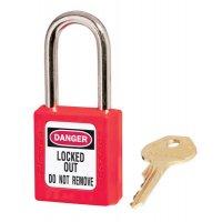 Licht, gekleurd hangslot voor lockout, met 1 sleutel