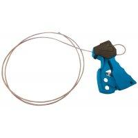 Vergrendelingssysteem met kabel en handgreep met veer voor lockout