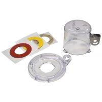 Vergrendelingssysteem voor drukknoppen en noodstoppen