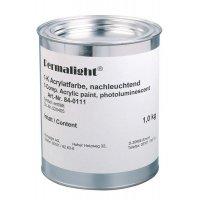 Fotoluminescente verf voor muren en veiligheidsmateriaal