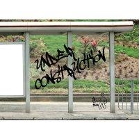 Anti-graffiti folie voor glas en borden