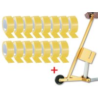 Set van 15 rollen vinyl vloertape + 1 applicator