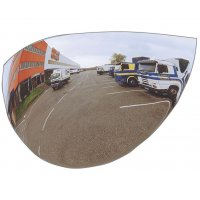 Verkeersspiegel voor parkeeruitgangen, 1/2 bol, 180° zicht