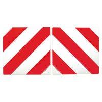 Rood-witte signalisatieplaat voor achterkant vrachtwagens