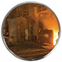 Industriële spiegel om te gebruiken in hoge temperaturen