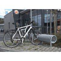 Duurzaam fietsenrek in spiraalvorm