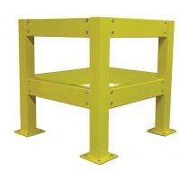 Stalen kolombescherming voor extra brede palen