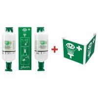Oogspoelstation: signalering + 2 x 1 l zoutoplossing