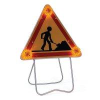 Kit: gevaarsbord en lichtbakens om werkzaamheden aan te duiden