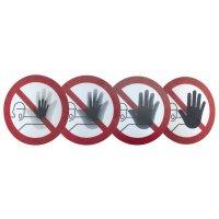 """Harde stickers met animatie SETON MOTION® """"Verboden toegang voor onbevoegden"""""""