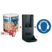 Kit oordopjes SparkPlugs 35 dB + 1 wandhouder + 1 bord
