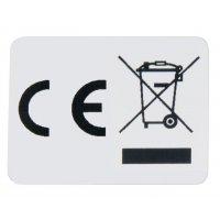 Etiket met CE- en AEEA-markering