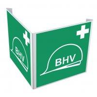 Haakse of wigvormige BHV-borden
