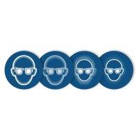 """Harde stickers met animatie SETON MOTION® """"Oogbescherming verplicht"""""""