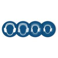 "Harde stickers met animatie SETON MOTION® ""Gehoorbescherming verplicht"""