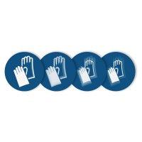"""Harde stickers met animatie SETON MOTION® """"Veiligheidshandschoenen verplicht"""""""