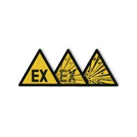 "Harde stickers met animatie SETON MOTION® ""Explosieve omgeving"""