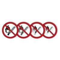 """Harde stickers met animatie SETON MOTION® """"Vuur, open vlam en roken verboden"""""""