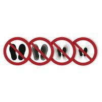 """Harde stickers met animatie SETON MOTION® """"Verboden de ruimte te betreden"""""""