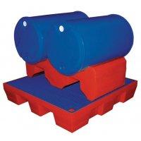 Plastic lekbak met openingen voor palletwagen