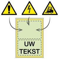 Personaliseerbare fotoluminescente waarschuwingsborden en -stickers
