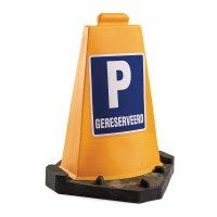 Gele signalisatiekegel voor parkeerplaatsen
