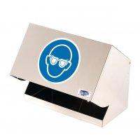 Kleine inox opbergdoos voor handschoenen of veiligheidsbrillen