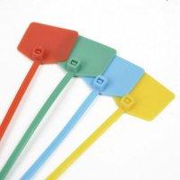 Gekleurde kabelbinders met mini-label
