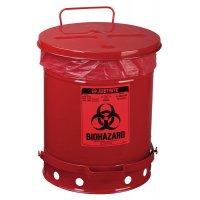 Metalen afvalbak voor gevaarlijk afval - 38 l