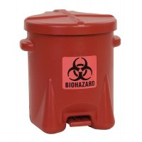Plastic afvalbak voor gevaarlijk afval