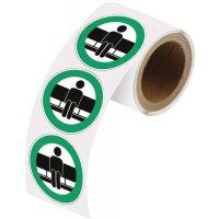 """Herkleefbare stickers op rol """"Hier zitten"""""""