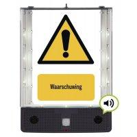Sprekend veiligheidsbord - Algemeen gevaar - W001
