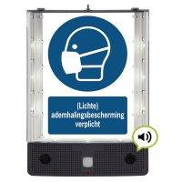 Sprekend veiligheidsbord - (Lichte) ademhalingsbescherming verplicht - M016