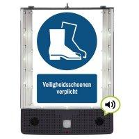 Sprekend veiligheidsbord - Veiligheidsschoenen verplicht - M008