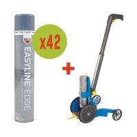 Kit 42 spuitbussen verf + 1 lijnentrekker HD Easyline® gratis
