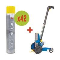 Kit 42 spuitbussen verf + 1 lijnentrekker Easyline®