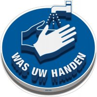 3D-vloermarkering - WAS uw handen