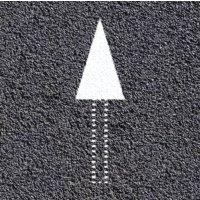 Thermoplastische vloermarkering: driehoek voor pijl