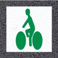 Thermoplastische vloermarkering: fietser