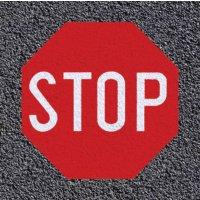 """Thermoplastische vloermarkering: """"STOP"""""""