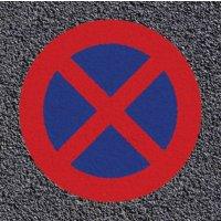Thermoplastische vloermarkering: stilstaan en parkeren verboden