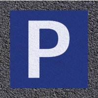 "Thermoplastische vloermarkering: parking ""P"""
