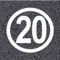 Thermoplastische vloermarkering - Zone 20